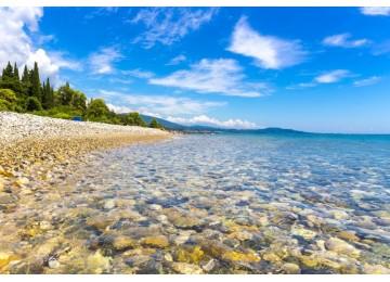 Собственный пляж| Отель «Родина»| Абхазия, Новый Афон